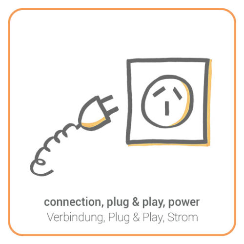 connection, plug & play, power
