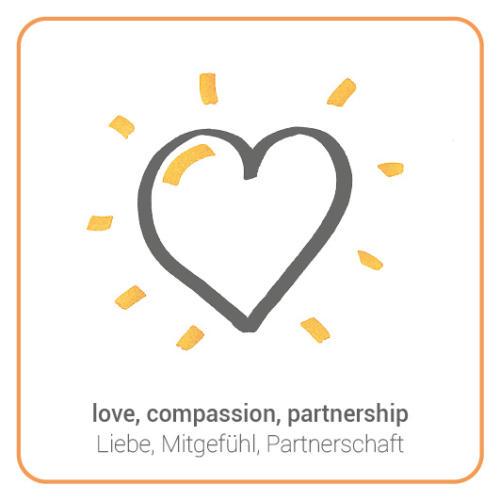 love, compassion, partnership