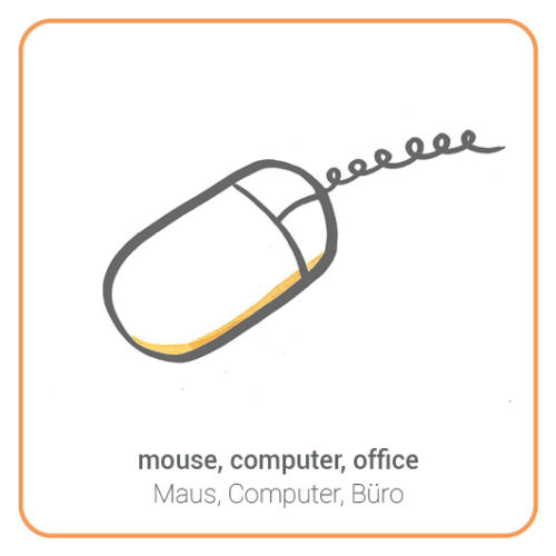 mouse, computer, office