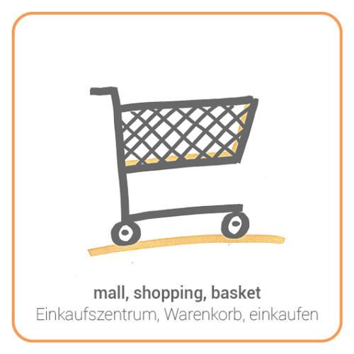 mall, shopping, basket