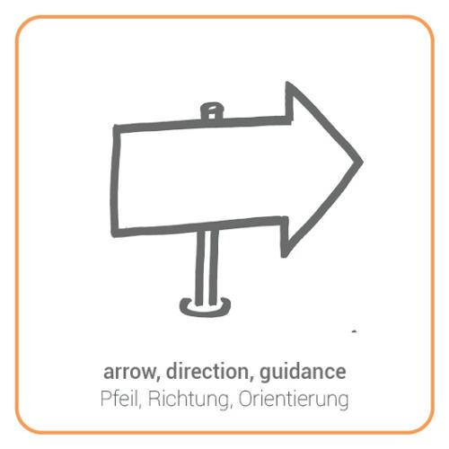 arrow, direction, guidance