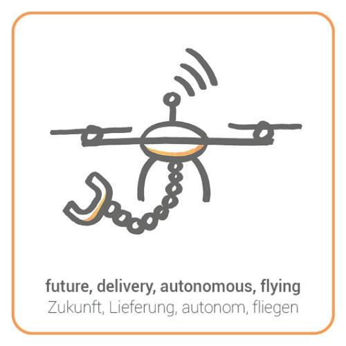 future, delivery, autonomous, flying