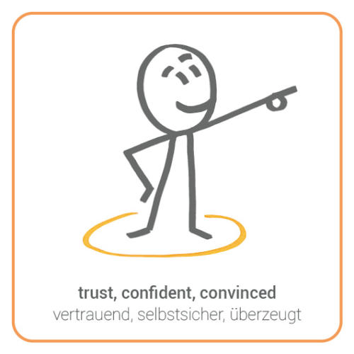 trust, confident, convinced, show the way
