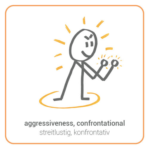 aggressiveness, confrontational, sparring, fight