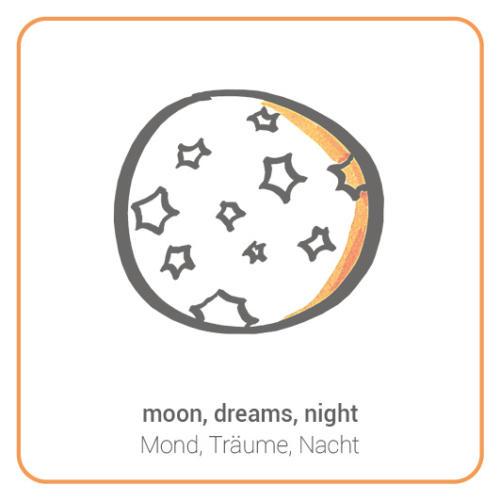 moon, dreams, night