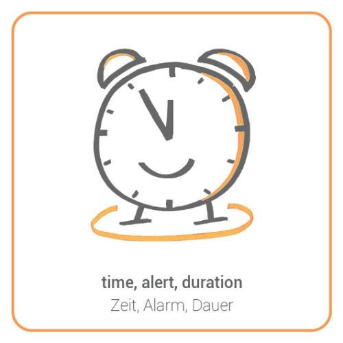 time, alert, duration