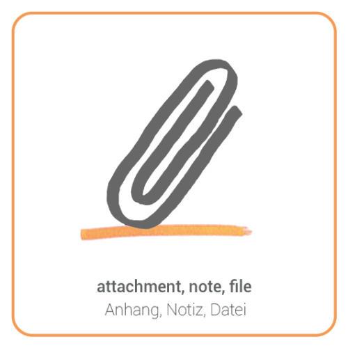 attachment, note, file
