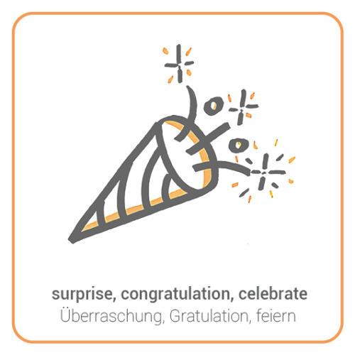 surprise, congratulation, celebrate