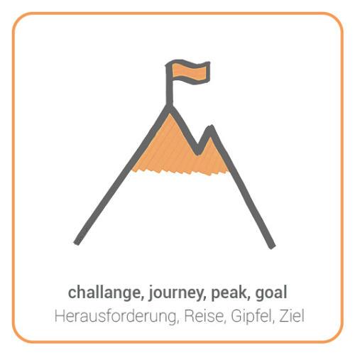 challange, journey, peak, goal